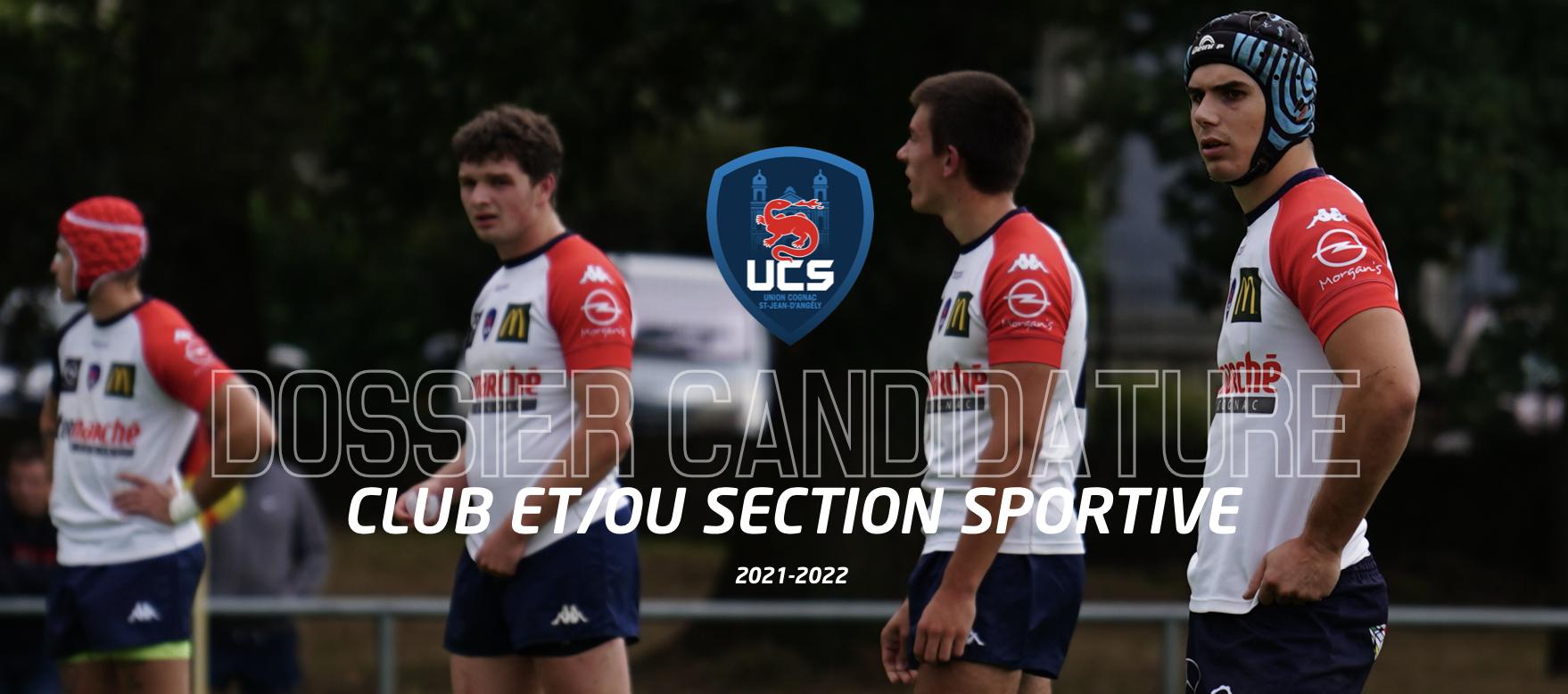 Dossier de candidature club et/ou Section Sportive Scolaire 2021-2022